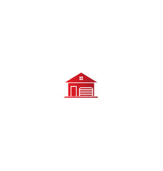 house garage logo vector image