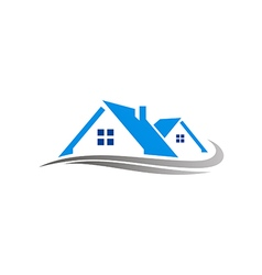 House realty cottage construction logo vector