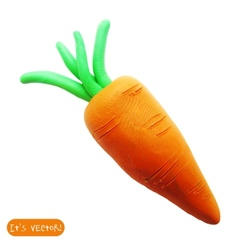 Icon of plasticine carrot vector