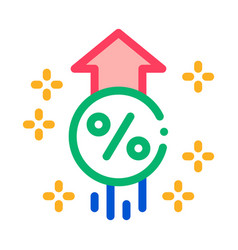 Interest increase rise up icon outline vector