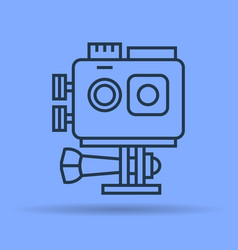 Isolated linear icon of action camera vector