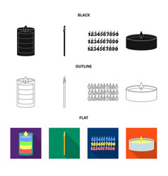 Isolated object relaxation and flame icon set vector
