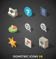 IsometricIcons08 vector image