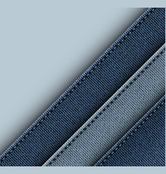 Jeans design with diagonal stripes vector