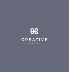 Letter ee creative business logo design vector