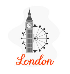 london tourist attractions vector image