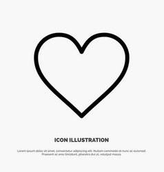 Love instagram interface like line icon vector
