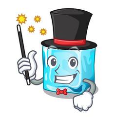 Magician ice cubes on the cartoon funny vector