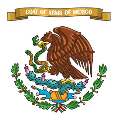 mexican coat of arms vector image