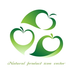 Natural product icon vector