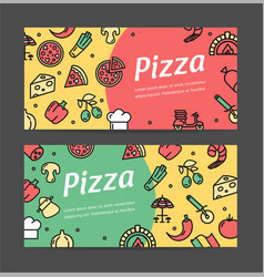 pizza signs banner horizontal set vector image