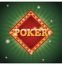 Poker frame of casino concept design vector image