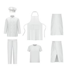 Professional clothes chef uniform pants vector
