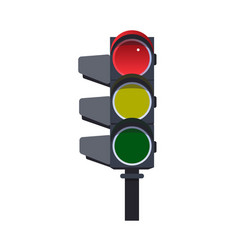 red traffic light vector image