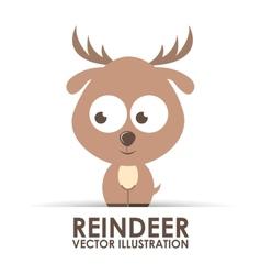 Reindeer design vector
