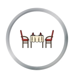 Restaurant table icon in cartoon style isolated on vector