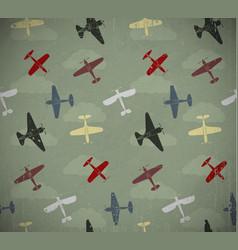 retro planes vector image