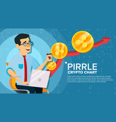 Ripple up trend growth concept trade vector