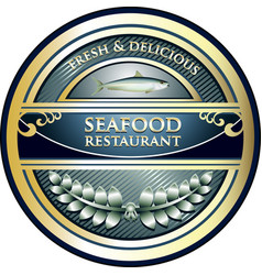 Seafood restaurant icon vector