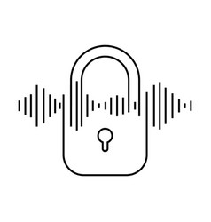 Security padlock isolated icon vector