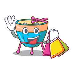 Shopping cartoon timpani in the orchestra group vector
