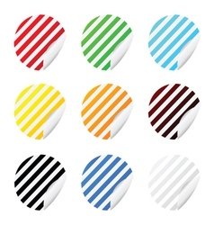 sticker circle color vector image
