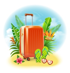 Travel Suitcase Design vector image