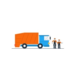 Truck with garbage container vector image