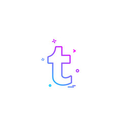 Tumblr icon design vector