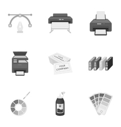 Typography set icons in monochrome style Big vector