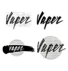 Vaper lettering vector