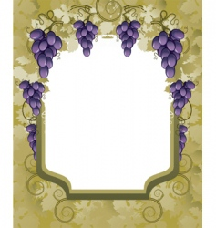 Vineyard border vector