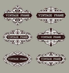vintage circle frames vector image
