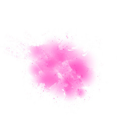 Watercolor pink smear on white background vector