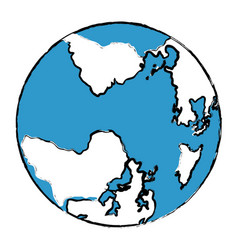 Wonderful planet earth vector