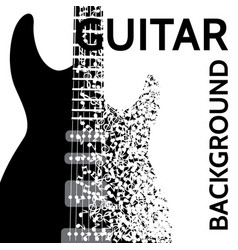 abstract background with electric guitar vector image