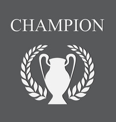 champion gray vector image vector image