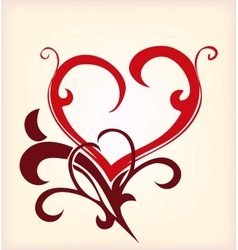 Decoration heart vector image