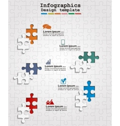 Infographics web design with puzzle vector image vector image