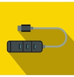 USB adapter connectors icon flat style vector image vector image