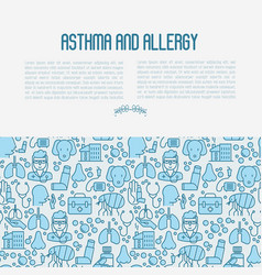 asthma and allergy concept vector image vector image