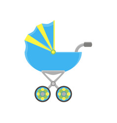 baby carriage pram icon stroller silhouette vector image