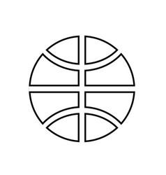 basketball ball black color icon vector image