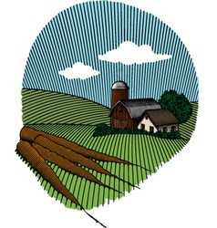 carrot scene color vector image vector image