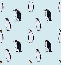 colorful drawing arctic fauna seamless pattern vector image