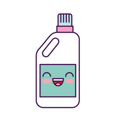 detergent bottle kawaii character vector image vector image