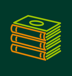 foreign books icon outline style vector image