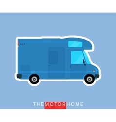 Motorhome vehicle isolated vector image