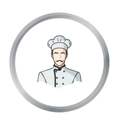Restaurant chef icon in cartoon style isolated on vector image vector image