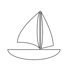 sailboat navigation water recreation thin line vector image
